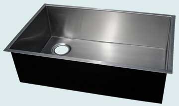 Kitchen Sinks - Stainless Kitchen Sinks- Custom Kitchen Sinks Stainless Kitchen Sinks - Zero Radius with Left Rear Drain # 3741