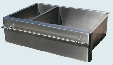 Custom Stainless Kitchen Sinks #3754 | Handcrafted Metal Inc