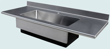 Countertops - Stainless Countertops- Straight Stainless Countertops - Bullnose Farm Sink # 3352