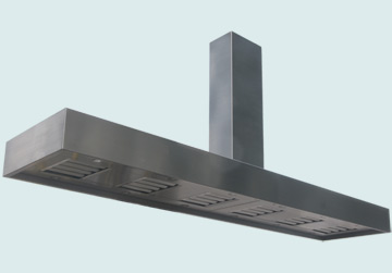 Custom Stainless Range Hoods Ultra Low Profile 2428