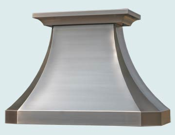 Custom Stainless Range Hoods French Country 2441