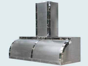 Custom Stainless Range Hoods Single Roll 3264