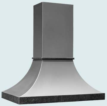 Custom Stainless Range Hood #3267 | Handcrafted Metal Inc