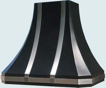 Custom Colorcoat Range Hood #3286 | Handcrafted Metal Inc
