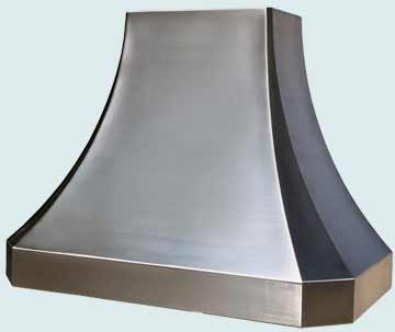 Custom Stainless Range Hoods French Sweep 3831