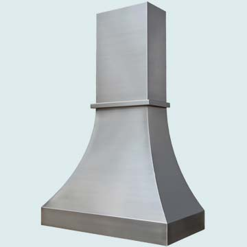 Custom Stainless Range Hoods Double Sweep 4281