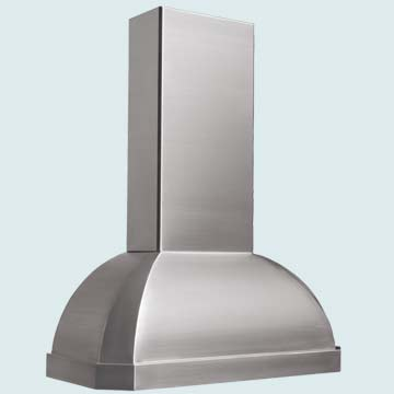 Custom Stainless Range Hoods French Roll 4301