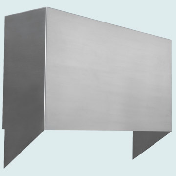 Custom Stainless Range Hood #4412 | Handcrafted Metal Inc