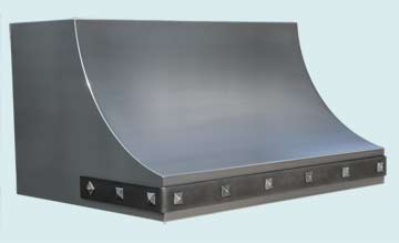 Custom Stainless Range Hoods Sweep Front 4645