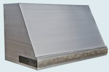Custom Stainless Range Hood #4838 | Handcrafted Metal Inc
