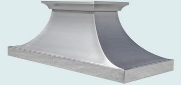 Custom Stainless Range Hoods Double Sweep 4854