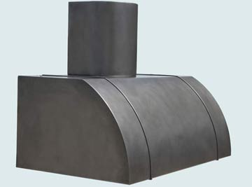 Custom Zinc Range Hoods Single Roll 5181