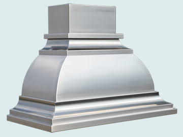 Custom Stainless Range Hood #5210 | Handcrafted Metal Inc
