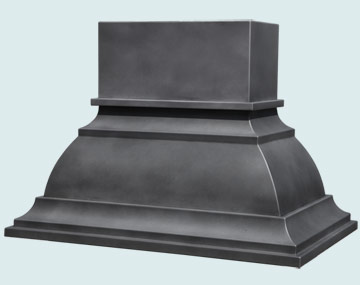 Custom Zinc Range Hood #5424 | Handcrafted Metal Inc