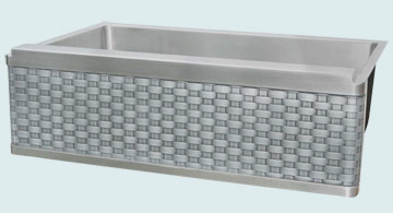 Kitchen Sinks - Stainless Kitchen Sinks- Woven Aprons Stainless Kitchen Sinks - Stainless Sink with Zinc Weave Apron # 2953