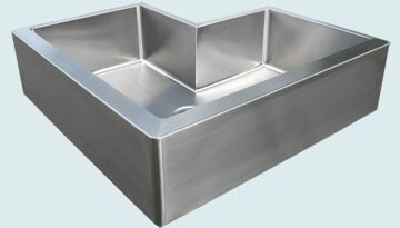 Kitchen Sinks - Stainless Kitchen Sinks- Special Aprons Stainless Kitchen Sinks - Double Apron Undermount # 2954