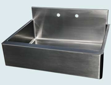Kitchen Sinks - Stainless Kitchen Sinks- Backsplashes Stainless Kitchen Sinks - Flush Backsplash With Radius Apron # 2991