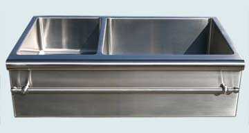 Custom Stainless Kitchen Sinks #3050 | Handcrafted Metal Inc