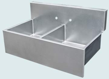 Kitchen Sinks - Stainless Kitchen Sinks- Backsplashes Stainless Kitchen Sinks - Flush Backsplash & Square Style Apron # 3685