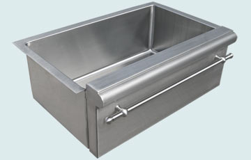 Kitchen Sinks - Stainless Kitchen Sinks- Special Aprons Stainless Kitchen Sinks - Raised Apron with Step # 3724