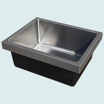 Kitchen Sinks - Stainless Kitchen Sinks- Custom Kitchen Sinks Stainless Kitchen Sinks - Single Bowl Flush Mount # 4494