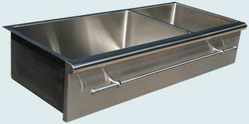 Kitchen Sinks - Stainless Kitchen Sinks- Towel Bars Stainless Kitchen Sinks - Bullnose Edge & Towel Bar # 4590