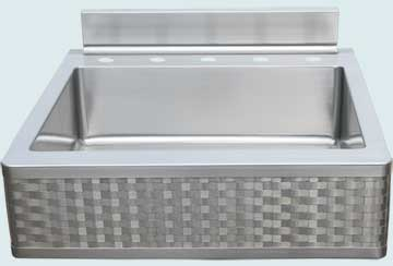 Kitchen Sinks - Stainless Kitchen Sinks- Woven Aprons Stainless Kitchen Sinks - Backsplash & Woven Apron # 4660