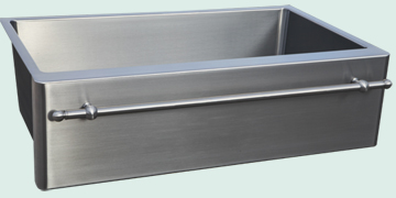 Kitchen Sinks - Stainless Kitchen Sinks- Towel Bars Stainless Kitchen Sinks - Grain Finish & Towel Bar # 4845