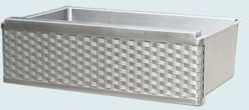 Kitchen Sinks - Stainless Kitchen Sinks- Woven Aprons Stainless Kitchen Sinks - Raised Apron Stainless Straight Weave # 4999