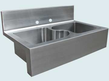 Kitchen Sinks - Stainless Kitchen Sinks- Backsplashes Stainless Kitchen Sinks - Backsplash, Apron, and S Divider # 5012