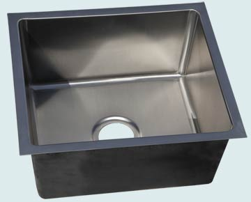 Bar Sinks - Stainless Bar Sinks- Bar & Prep Sinks Stainless Bar Sinks - Stainless Micrograin # 5093
