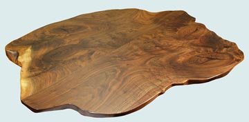 Wood Countertops - TX Walnut Wood Countertops- Face Grain TX Walnut wood Countertops - Texas Walnut # 4103