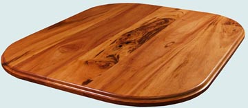 Wood Countertops - Tigerwood Wood Countertops- Face Grain Tigerwood wood Countertops - Face grain Tigerwood # 4158