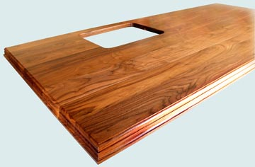 Wood Countertops - Walnut Wood Countertops- Face Grain Walnut wood Countertops - Face grain Walnut # 4075