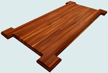 Wood Countertops - Walnut Wood Countertops- Edge Grain Walnut wood Countertops - Walnut # 4139