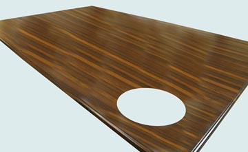 Wood Countertops - Wenge Wood Countertops- Edge Grain Wenge wood Countertops - Wenge # 4140