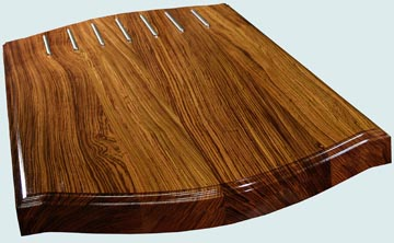 Wood Countertops - Zebrawood Wood Countertops- Face Grain Zebrawood wood Countertops - Face grain Zebrawood # 4154