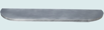 Countertops - Zinc Countertops- Curve Zinc Countertops - Rounded Ends Bar Top # 4192