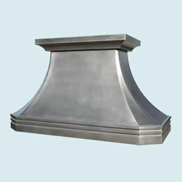 Custom Pewter Range Hoods French Country 4557