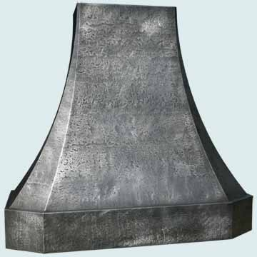 Custom Zinc Range Hoods French Sweep 2939