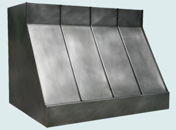 Custom Zinc Range Hood #2940 | Handcrafted Metal Inc