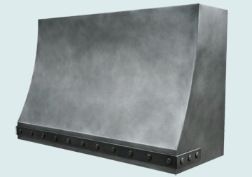 Custom Zinc Range Hoods Sweep Front 2941