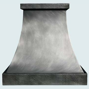 Custom Zinc Range Hoods Double Sweep 3040