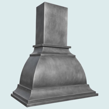 Custom Zinc Range Hood #3047 | Handcrafted Metal Inc