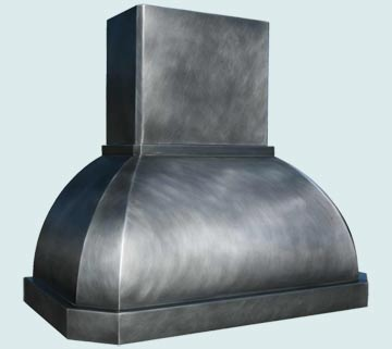 Custom Zinc Range Hoods French Roll 3052