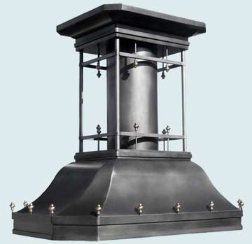 Custom Zinc Range Hoods French Country 3297