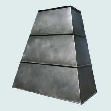 Custom Zinc Range Hood #3823 | Handcrafted Metal Inc