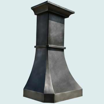 Custom Zinc Range Hoods French Country 3825