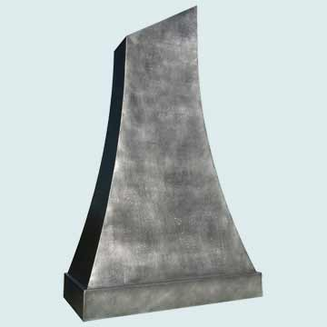 Custom Zinc Range Hoods Double Sweep 3832