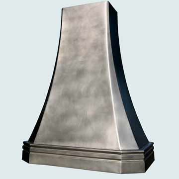 Custom Pewter Range Hoods French Sweep 3833